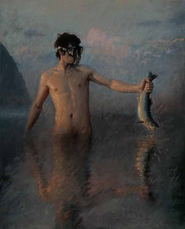 The Great Amphibium, oil on linen, 60x48, 2005