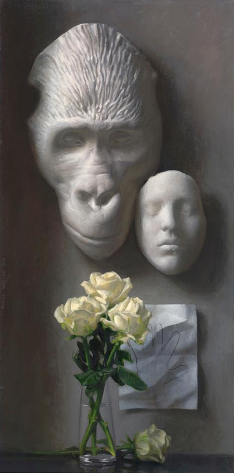 Touching, Oil on linen, 30x15, 2011