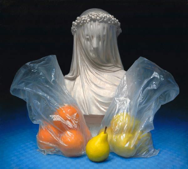 <em>Veiled</em> | Oil on linen | 18 x 20 | 2012