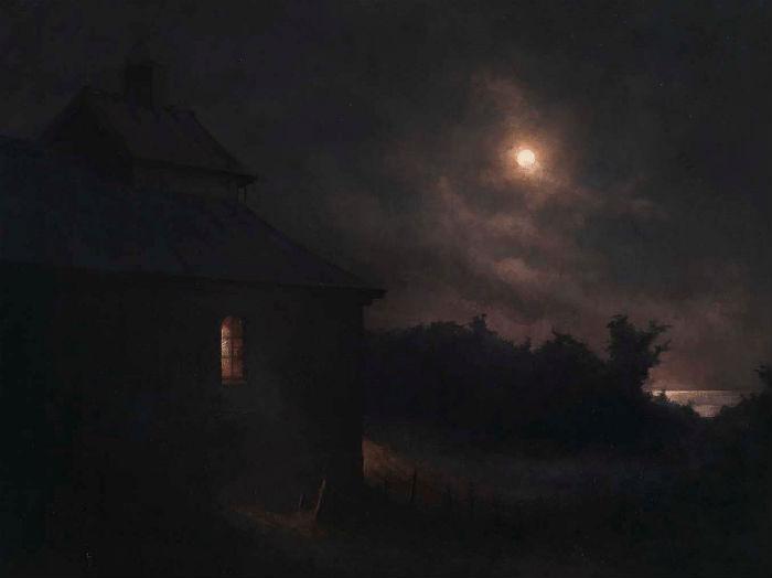 October Full Moon   Oil on canvas    29 1/2 x 37 3/8 inches   2010    Joakim ERICSSON (b. 1972)