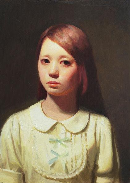 Glorified Self I 2014  oil on panel   Keita Morimoto