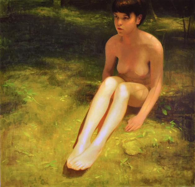 On the Grass | 2013 | oil on canvas over panel | 48 x 50 inches | Keita Morimoto