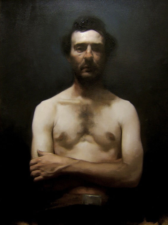 Portrait of the Artist- Johnny Macgrogan Oil on Linen 2006 Stephen Bauman 566 not 700.jpg