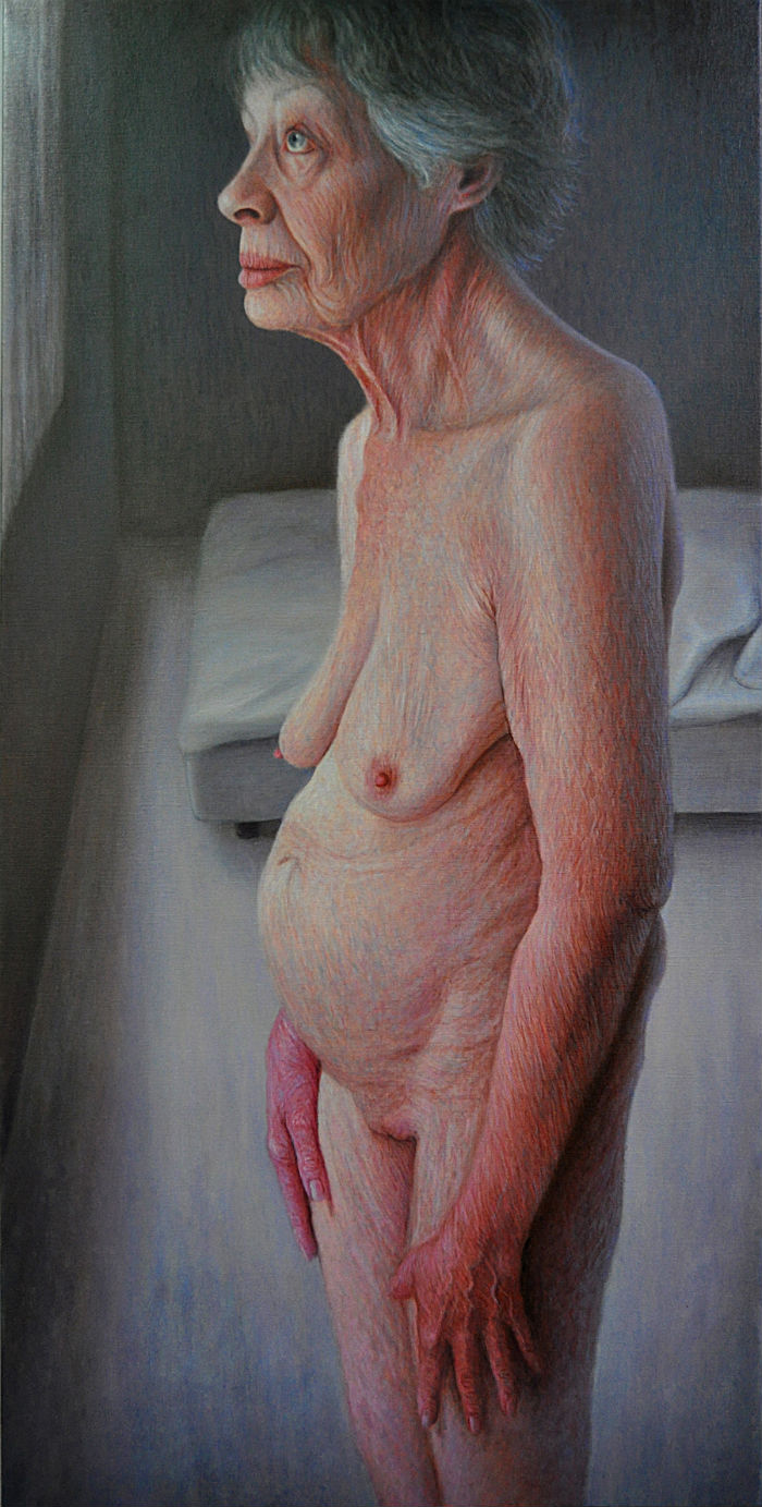 Outside 150 x 70 cm oil on canvas Francien Krieg