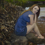 'By her lily white hand' (Banks of the Ohio Oil on canvas 36×38″ 2012) Julyan Davis