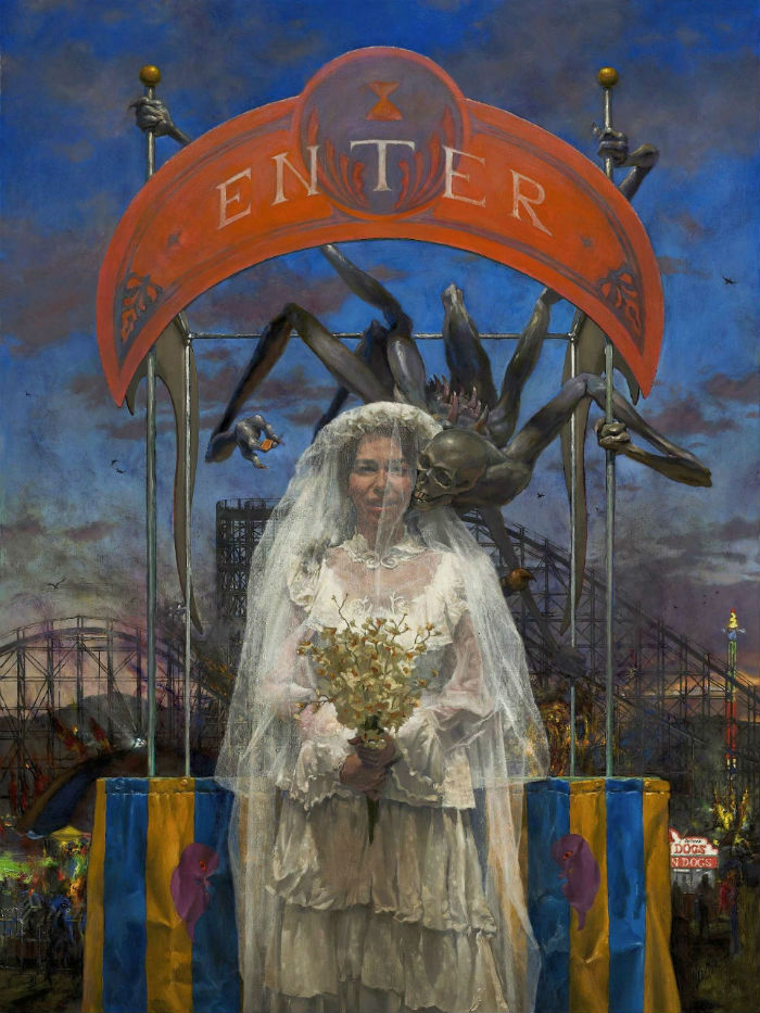 <em>Fatherless Bride 2</em> | 48 x 24 | oil on canvas | John Brosio