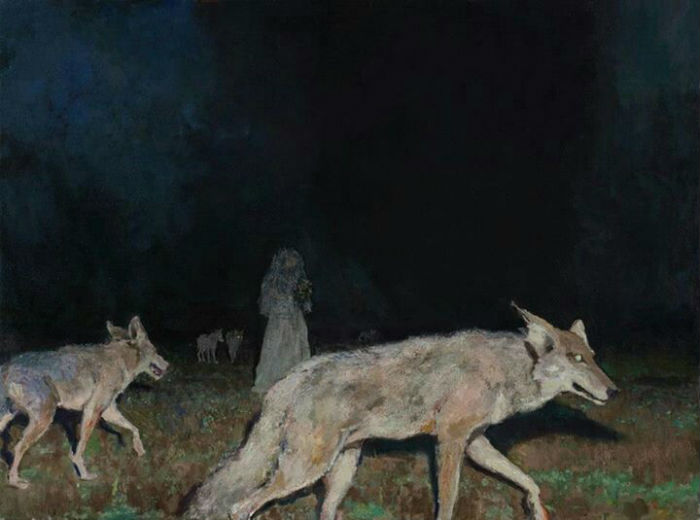 Night Hunt, 27.5 x 36, oil on canvas, 2012