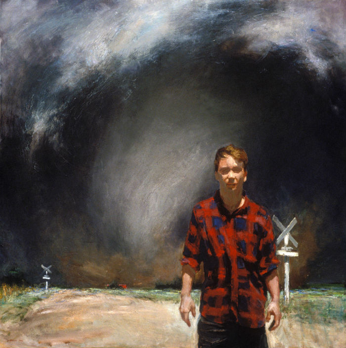 Harbinger (Self-Portrait) | 48 x 48 | oil on canvas | John Brosio