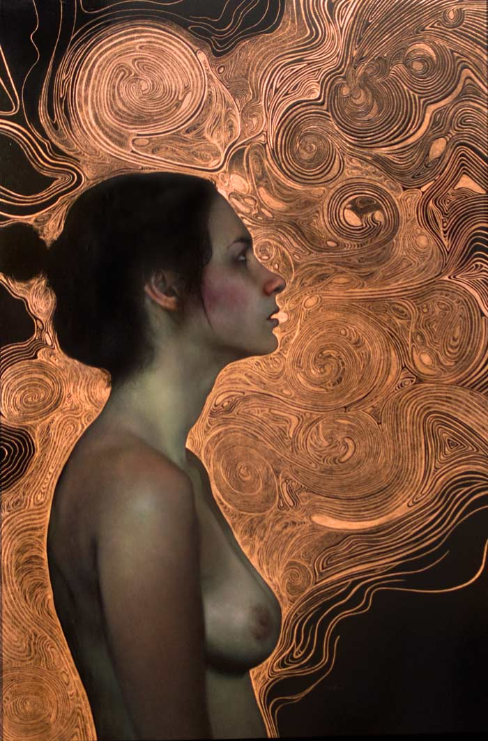 Convergence | 48×36″ | Oil on Copper | Erin Anderson
