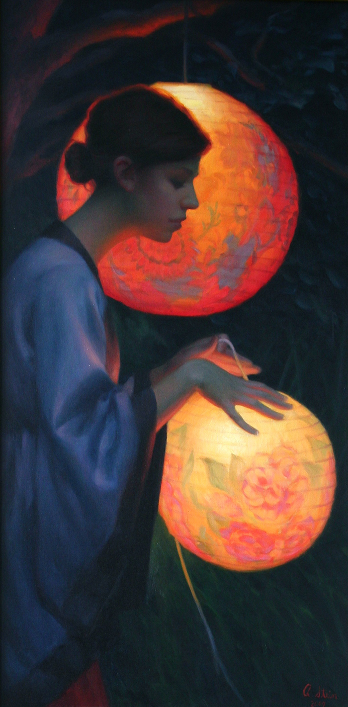 Chinese Lanterns_48-x24-_oil on canvas_2009_Private Collection (1)