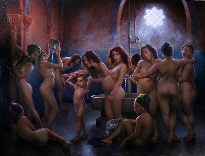 Moroccan Bathers Adrienne Stein