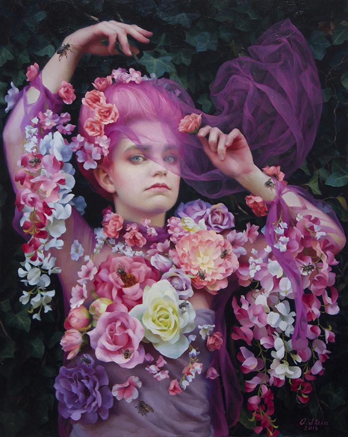 Pink Bride | 30-x24 oil on linen | Adrienne Stein