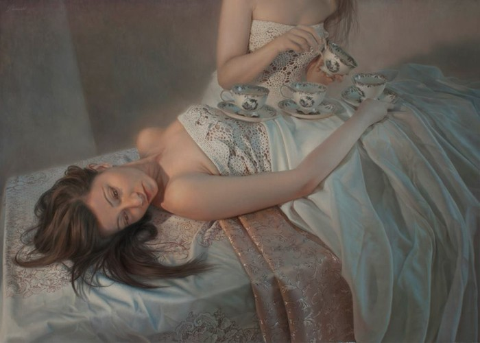 Martin LLamedo Tea oil on linen 120 x 85 cm