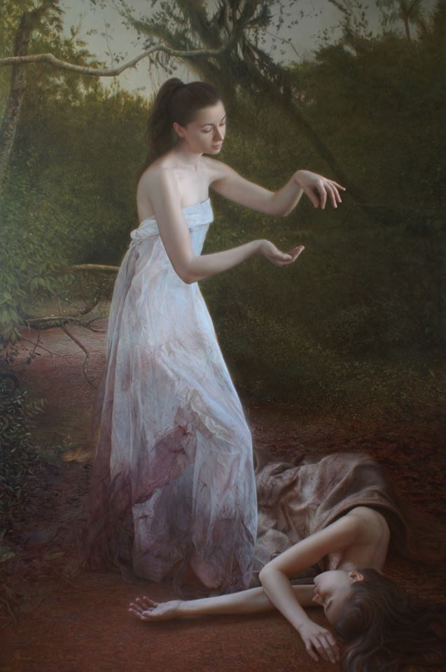 Martin LLamedo The Seeding oil on linen 200 x 140 cm