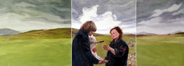 Strath of Kildonan- Louise | 28 x 77 | Oil on linen | Christina Sealey