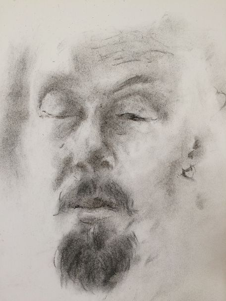 Self-portrait in charcoal | Jaakko Savolainen, Finland