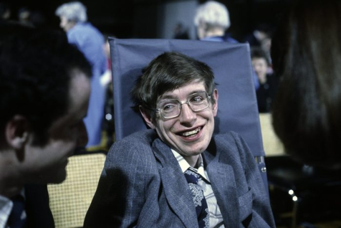 The late professor Stephen Hawking (8 January 1942 – 14 March 2018 )