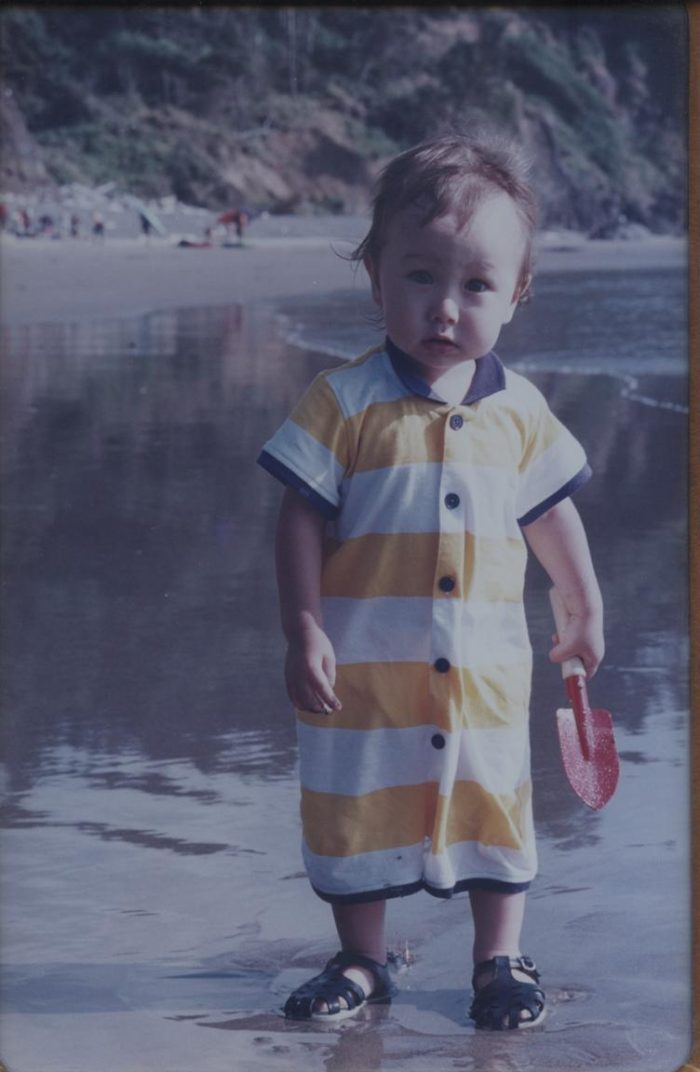Cole, age one, first visit to the Oregon coast