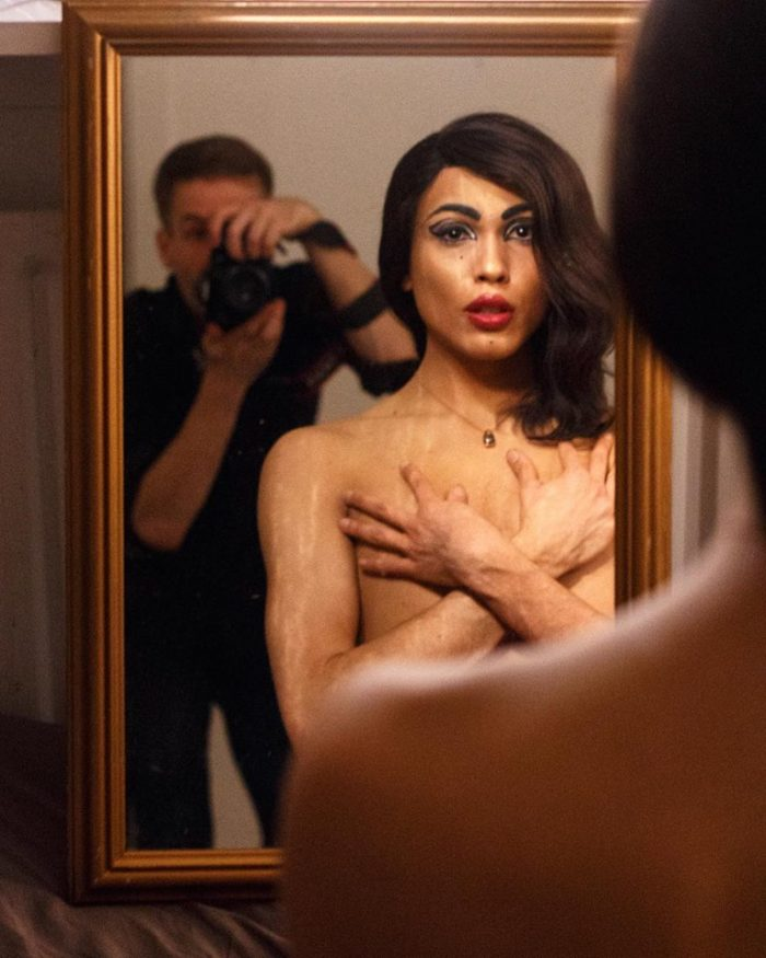 Icelandic drag queen, Strell Ytzia and photographer Kaspars Bekeris