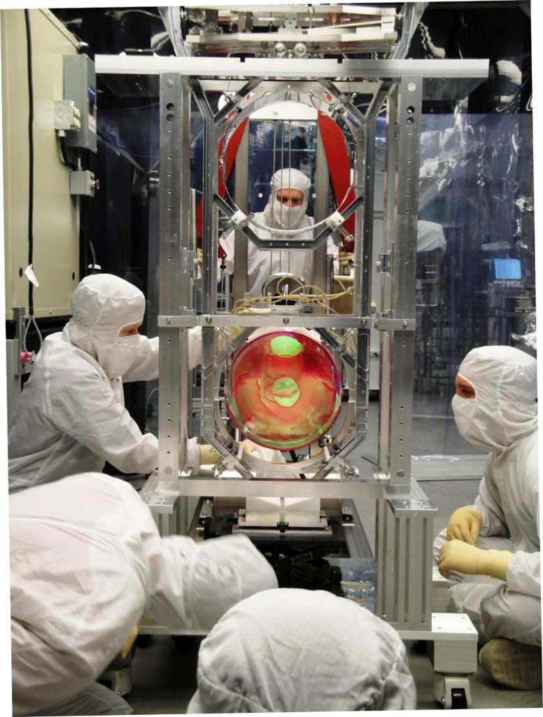 Large optic suspension (Images provided by LIGO Laboratory)